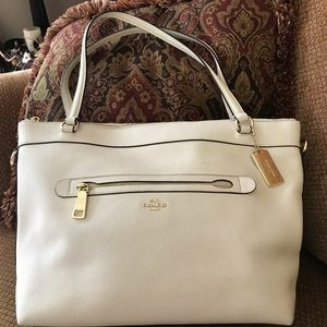 Coach Tyler Tote in Pebbled Leather